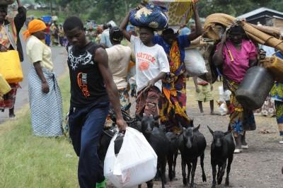 Kongossa Ugandan ja Etelä-Sudanin raja-alueiden yhteenotot FNI ja UFC liikkeiden välillä ovat pakottaneet useita hylkäämään kotinsa. Kuva: Julien Harneis