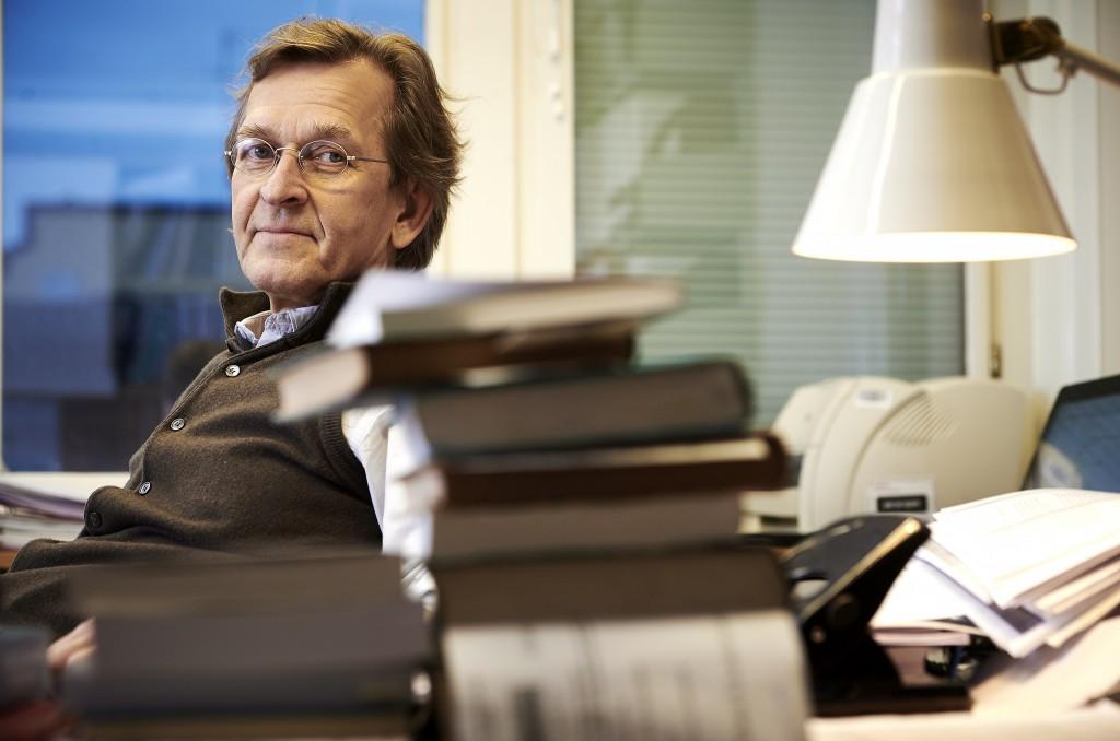 YDIN 20160209 HELSINKI Kansainvälisen oikeuden professori Martti Koskenniemi. Kuva Pekka Elomaa