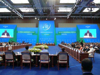 Astanan kokouksessa puhui myös CTBTO:n pääsihteeri Lassina Zerbo. CTBTO on ydinkoekieltoa ajava ja Wienissa majaansa pitävä järjestö.